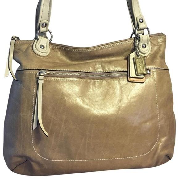 Coach Handbags - COACH Poppy GLAM Large Spectator Tote 18998